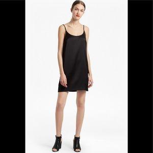 NWOT French Connection Black Satin Slip Dress
